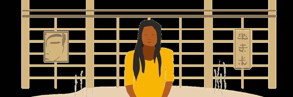 quite seated meditation illustration