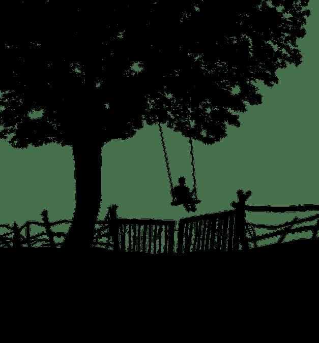 illustration swing child